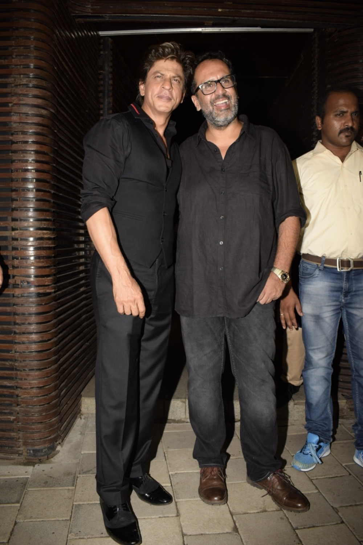 Mumbai: Director Anand L Rai with actor Shah Rukh Khan during his birthday celebration in Mumbai on June 27, 2018. (Photo: IANS)