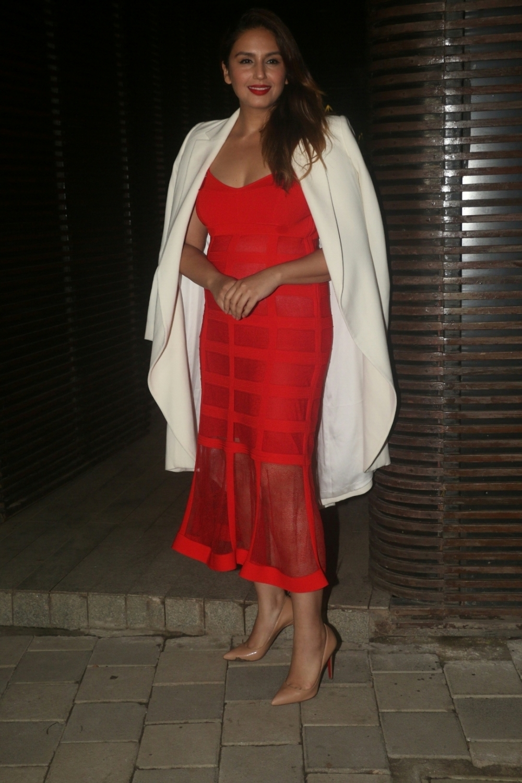 Mumbai: Actress Huma Qureshi at director Anand L Rai's birthday celebration in Mumbai on June 27, 2018. (Photo: IANS)