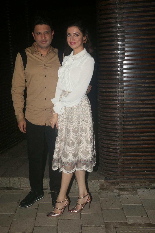 Mumbai: Actress-director Divya Khosla Kumar along with her husband Bhushan Kumar at director Anand L Rai's birthday celebration in Mumbai on June 27, 2018. (Photo: IANS)