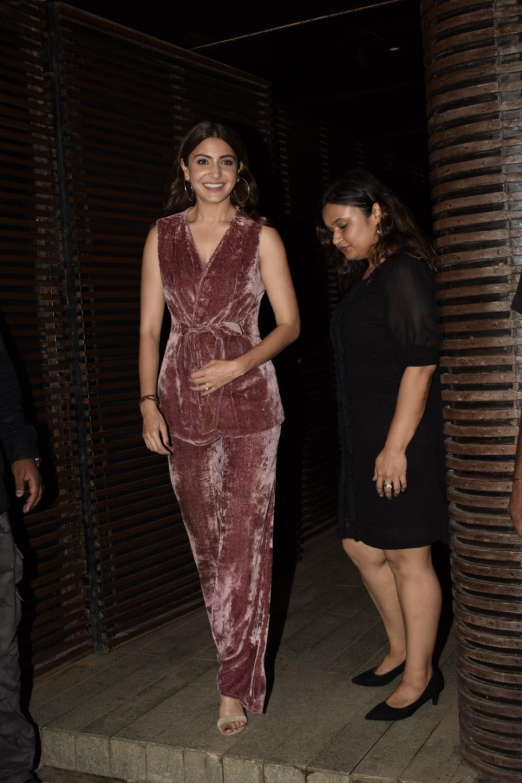 Mumbai: Actress Anushka Sharma at director Anand L Rai's birthday celebration in Mumbai on June 27, 2018. (Photo: IANS)