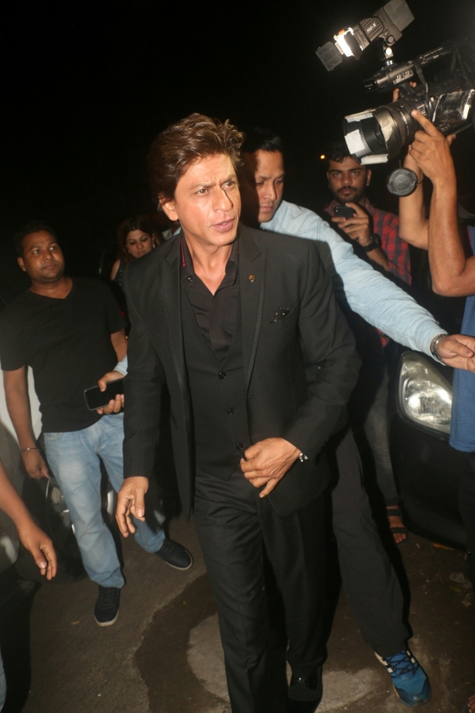 Mumbai: Actor Shah Rukh Khan at director Anand L Rai's birthday celebration in Mumbai on June 27, 2018. (Photo: IANS)
