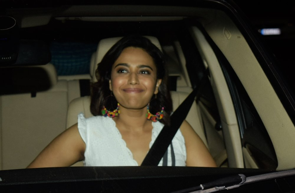"Mumbai: Actress Swara Bhasker at the special screening of upcoming film ""Manmarziyaan"" in Mumbai on Sept 12, 2018. (Photo: IANS)"