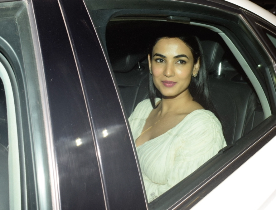 "Mumbai: Actress Sonal Chauhan at the special screening of upcoming film ""Manmarziyaan"" in Mumbai on Sept 12, 2018. (Photo: IANS)"