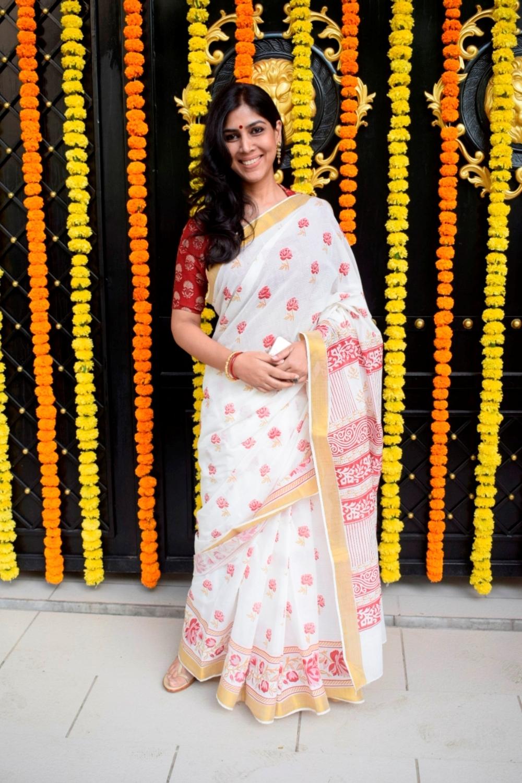 Mumbai: Actress Sakshi Tanwar at producer Ekta Kapoor's residence for Ganpati Celebrations in Mumbai on Sept 16, 2018. (Photo: IANS)