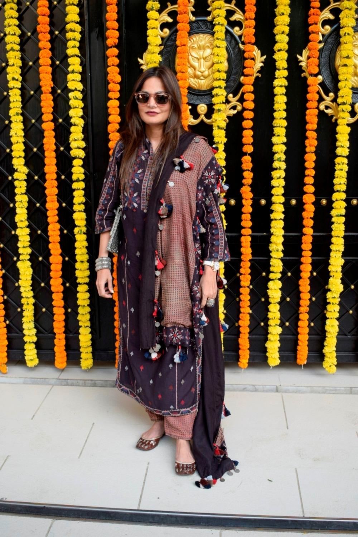 Mumbai: Actor Salman Khan's sister Alvira Khan Agnihotri at producer Ekta Kapoor's residence for Ganpati Celebrations in Mumbai on Sept 16, 2018. (Photo: IANS)