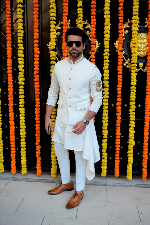 Mumbai: Actor Rithvik Dhanjani at producer Ekta Kapoor's residence for Ganpati Celebrations in Mumbai on Sept 16, 2018. (Photo: IANS)