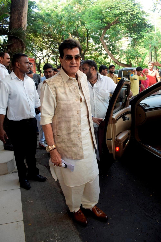 Mumbai: Actor Jeetendra during Ganpati Celebrations at his residence in Mumbai on Sept 16, 2018. (Photo: IANS)