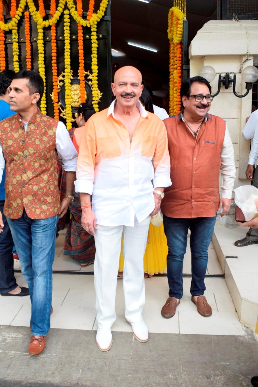 Mumbai: Producer Rakesh Roshan at producer Ekta Kapoor's residence for Ganpati Celebrations in Mumbai on Sept 16, 2018. (Photo: IANS)