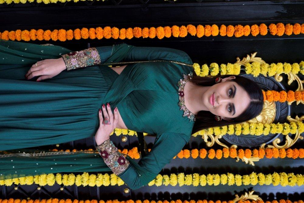 Mumbai: Actress Krystle D'Souza at producer Ekta Kapoor's residence for Ganpati Celebrations in Mumbai on Sept 16, 2018. (Photo: IANS)