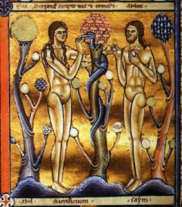 The Canturbury Psalter, Adam and Eve and the Mushroom of Knowledge, 1147 CE