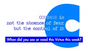 Virtue Courage Back vprint