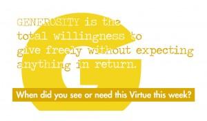 Virtue Generosity Back vprint