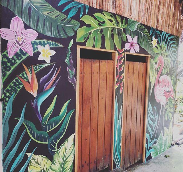 New mural at Olivia... thank you @barbarasiebenlist_arte #mural #islamujeresmurals