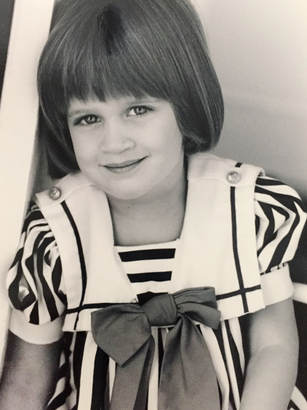 I modeled as a little girl in New York City. My Nana was a model and off broadway actress. This was my headshot when I was 3yrs old.