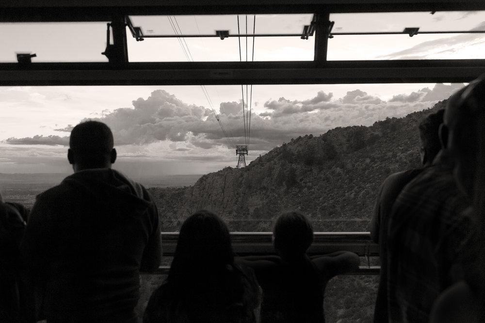 Onboard the Sandia Peak Tram, Albuquerque, NM.