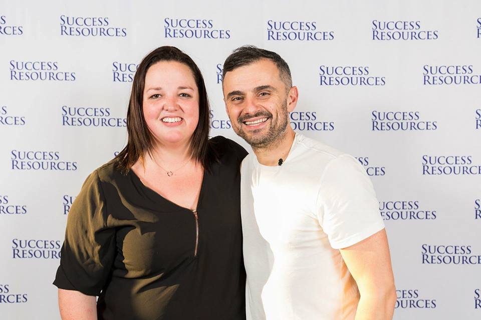 Jemimah with Gary Vaynerchuck following at event in Sydney November 2017