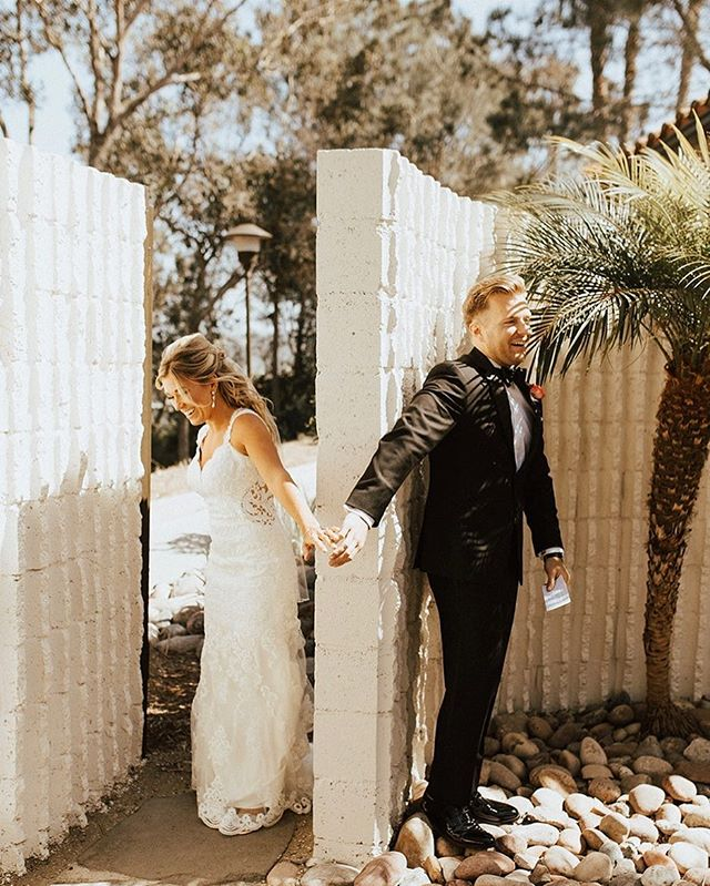 Debating on having a first look or not? This special moment was priceless for my husband and I. We were able to say private vows and a prayer with each other before we got up in front of everyone. Definitely one of the highlights of my big day!! ✨💍