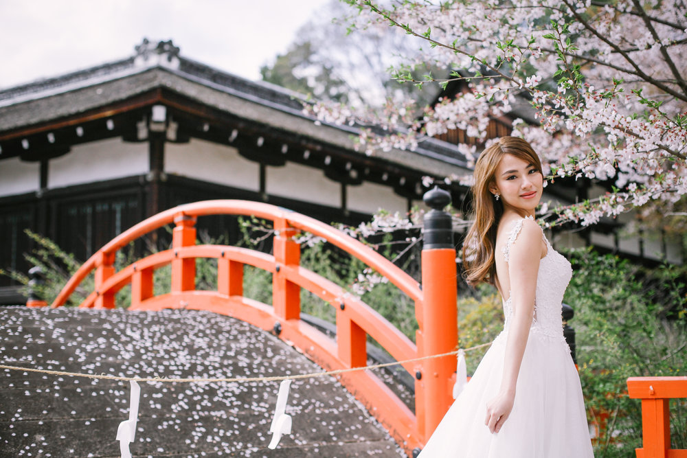 Wedding dress Kyoto Shimogamo