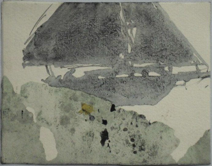 Untitled, 2011 - foreigner at home series; Acrylic, indian ink and watercolour on paper; 12,5 x 16 cm