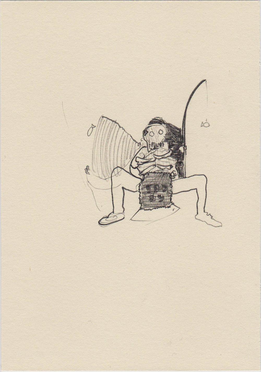 Monolithic, 2015; Pencil on paper; 20 x 14,5 cm