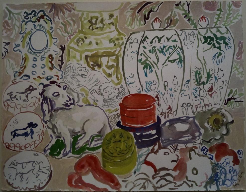 O meu quarto de infância, 2017; Gouache on paper; 33 x 40 cm