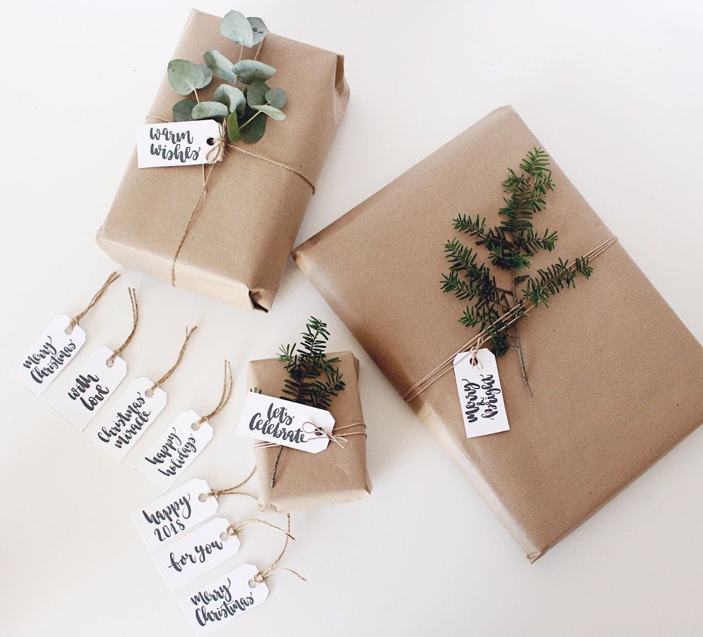 Christmas Tags Gift Wrapping Freebie