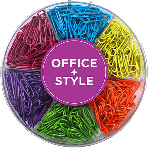 Office Style Colored Paper Clips