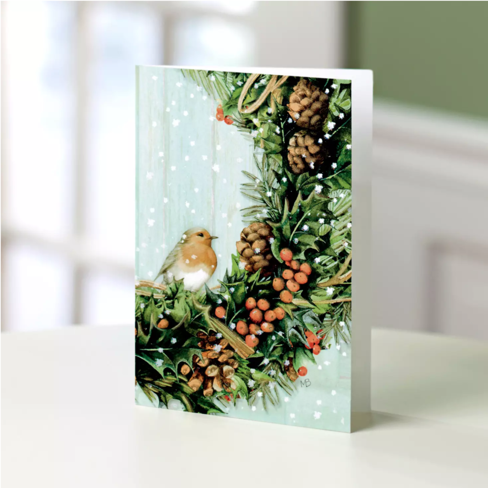 UNICEF Bird & Wreath Card