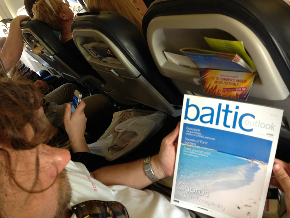 Revista de bordo Baltic Outlook, com matérias bacanas e bem diagramadas