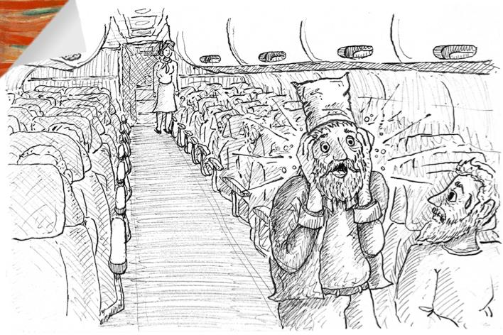 """O ilustrador  Juca Oliveira  fez essa versão do quadro  """"O Grito""""  baseado na minha história. Edvard Munch teria gostado dela. Claro que sim"""
