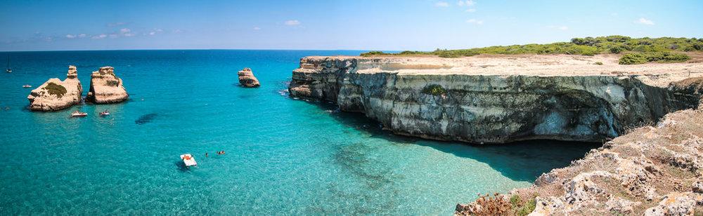 Praia de Santa Cesarea Terme: não, não é photoshop