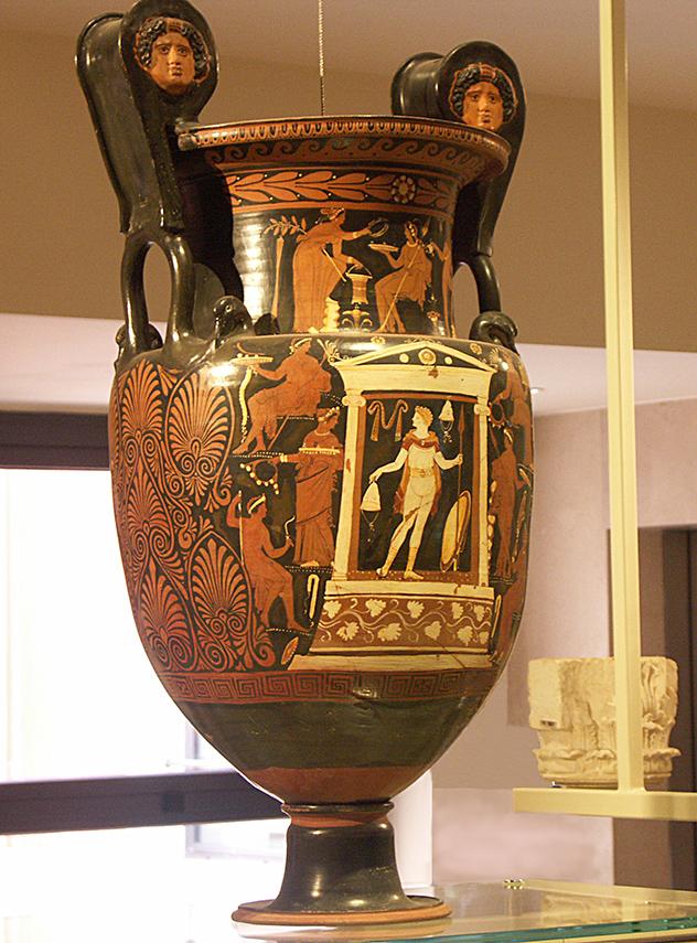 Vaso grego no museu de Taranto