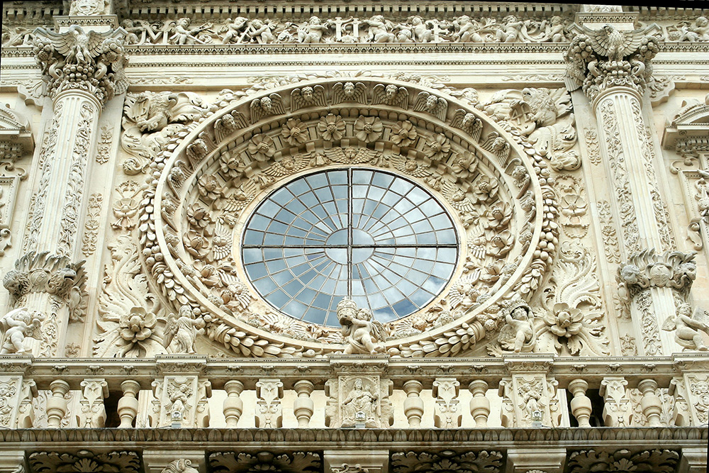 Detalhe da igreja de Santa Croce, em Lecce