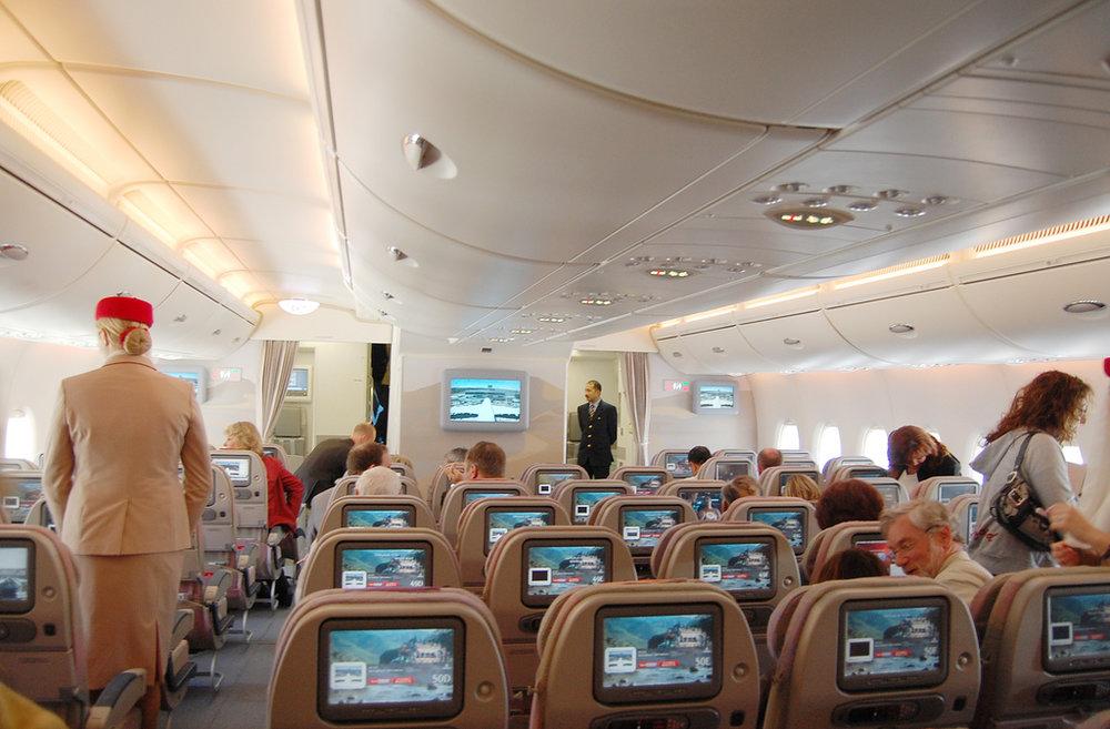 Classe Econômica do A380 da Emirates