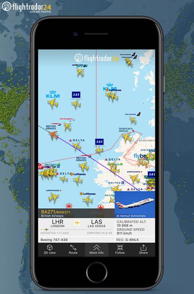 Dá pra rastrear voos do mundo todo em tempo real! Um prato cheio para quem ama aviação