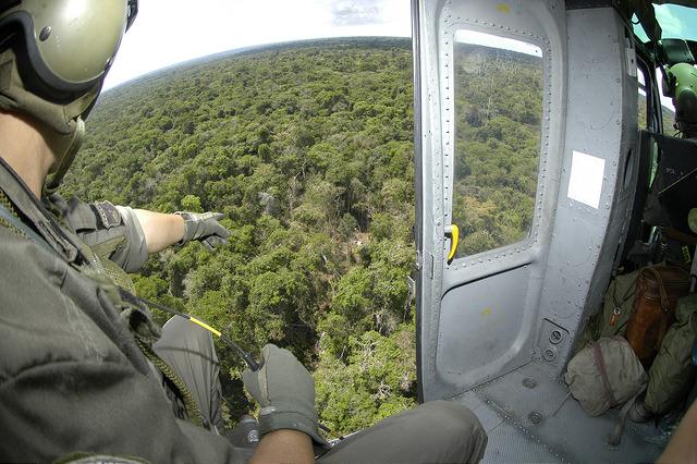Visualização da clareira principal, no norte do Mato Grosso (Foto: FAB)