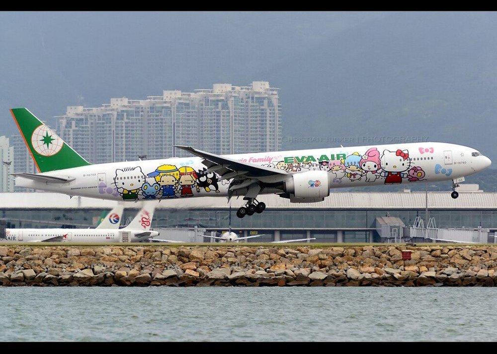 Acho que cabe mais Hello Kittynessa fuselagem, EVA Air. Tá pouco