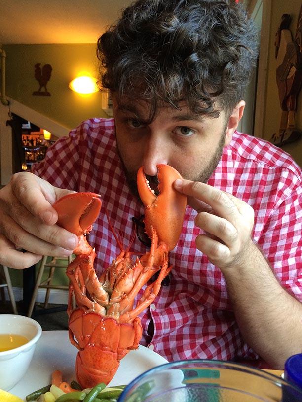 Uma das 763847598 lagostas comidas por mim na Nova Inglaterra
