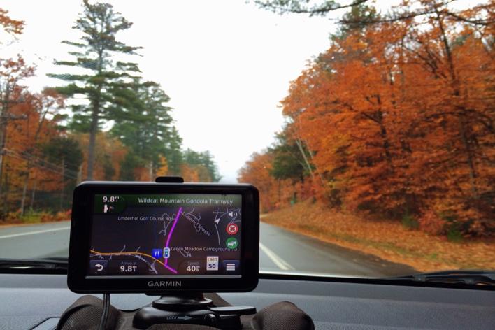 GPS, a invenção dos deuses, nos guiando pelo White Mountain National Forest