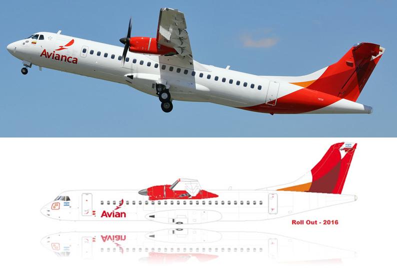 A Avianca também operará na Argentina em sua versão low-cost chamada Avian. O avião? Um ATR72 com essas... hélices (assim o panicado grita!)