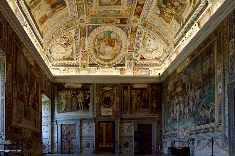 Afrescos no chamado Quarto do Cardeal, no Palazzo Farnese