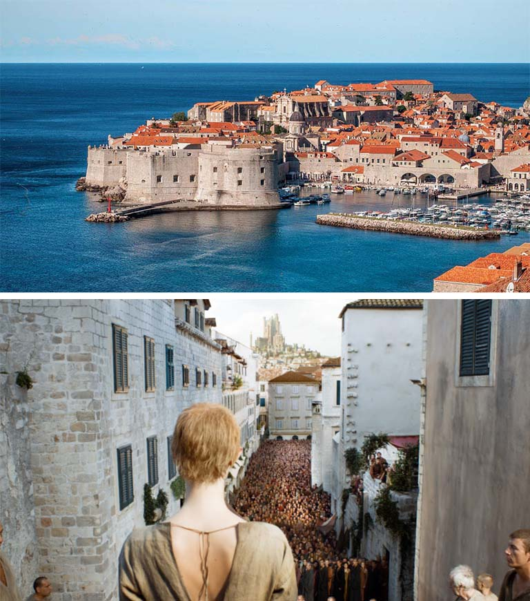 A cidade croata de Dubrovinik serve de palco para as cenas de King's Landing (Foto: HBO)