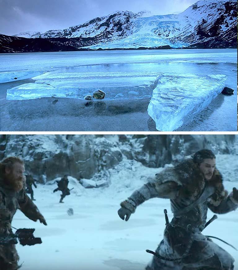 Quer conhecer a Islândia? Pois saiba que em suas geleiras são filmadas as cenas além da muralha. Dá pra sentir frio só de olhar para essa linda foto (Foto: HBO)