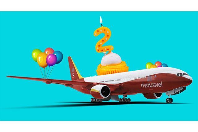 Feliz aniversário, rivotravel! Dois anos de risadas com recheio de choro e cobertura de pânico ♡. Leiam a matéria especial no rivotravel.com (link na bio) #✈️ #🎈#rivotravel #medodevoar #medodeaviao #aerofobia #viagens #aviação #panicodeaviao #😱