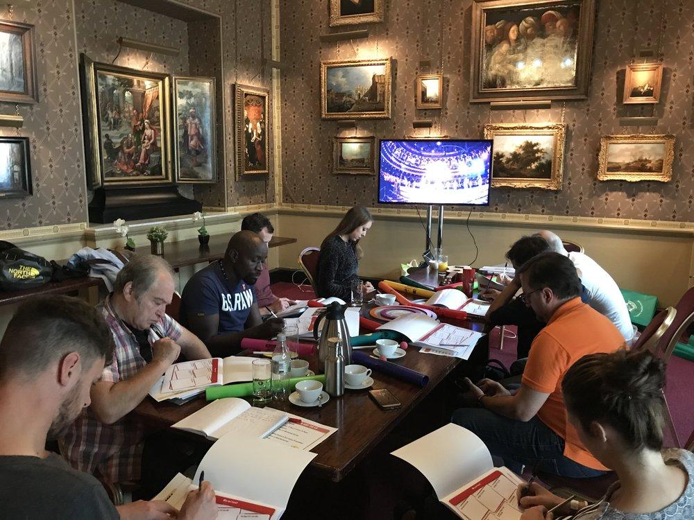 Our facilitators reflecting their skills at our Facilitator Training Day at the Royal Albert Hall