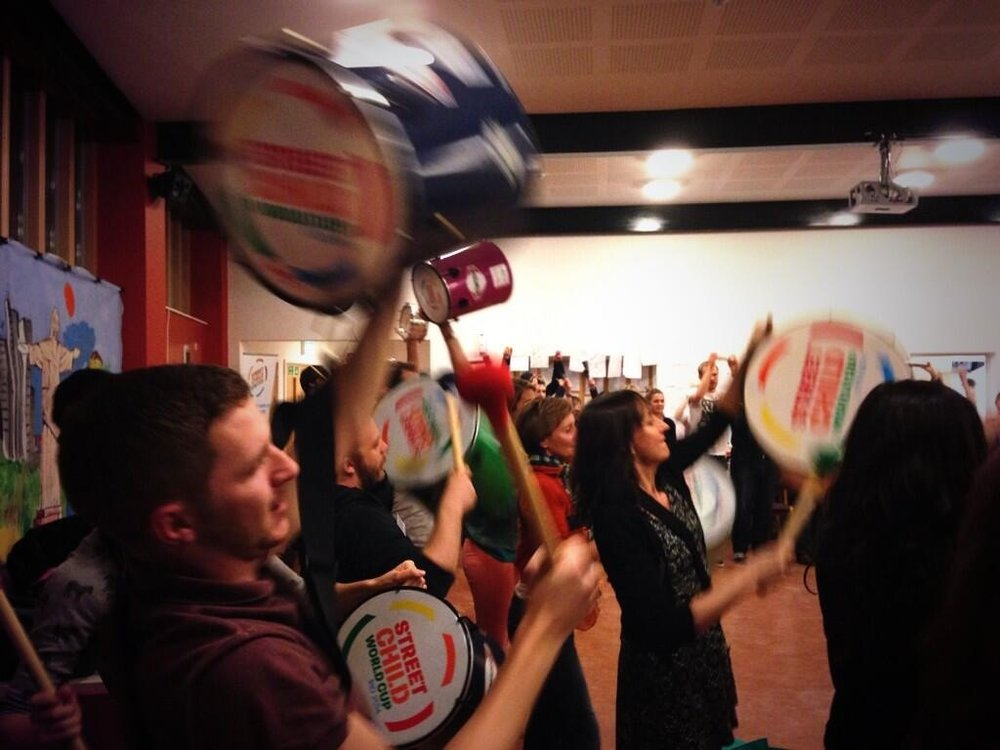 An Inspire-works Brazilian samba drumming CPD session!