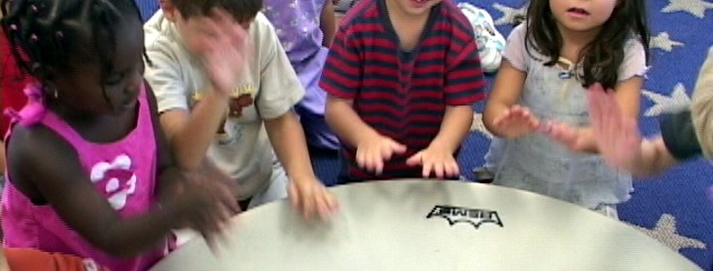Percussion with early years -