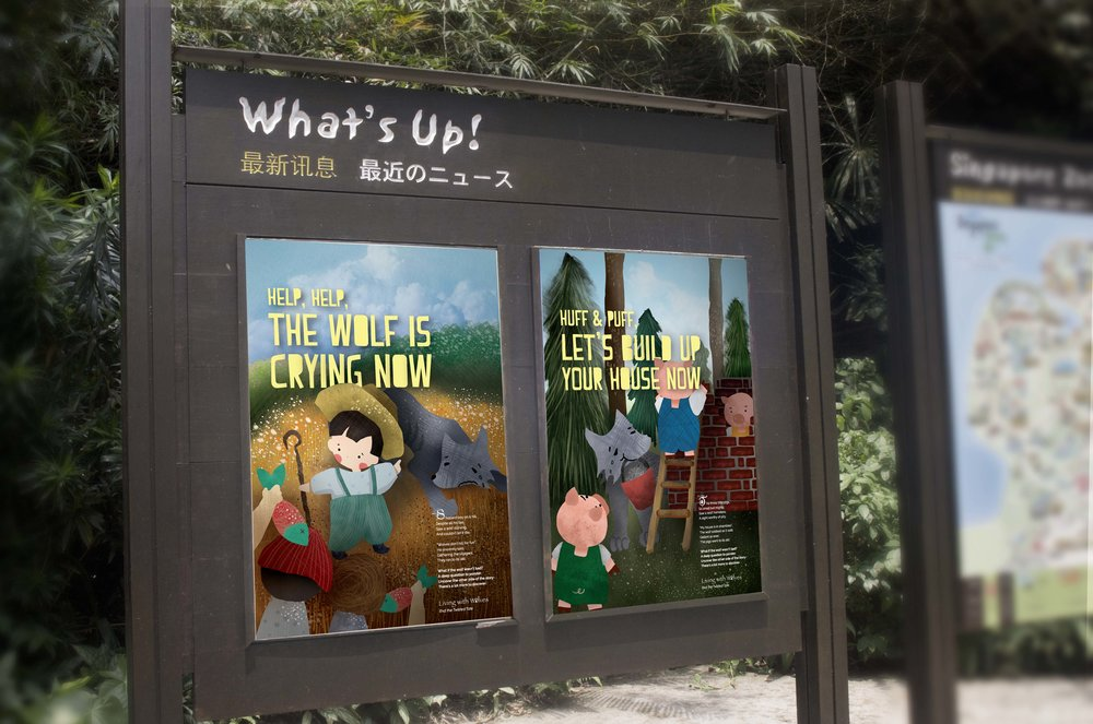 Advertisements in the Singapore Zoo.