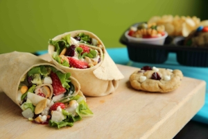 Strawberry Cashew Chicken Wrap