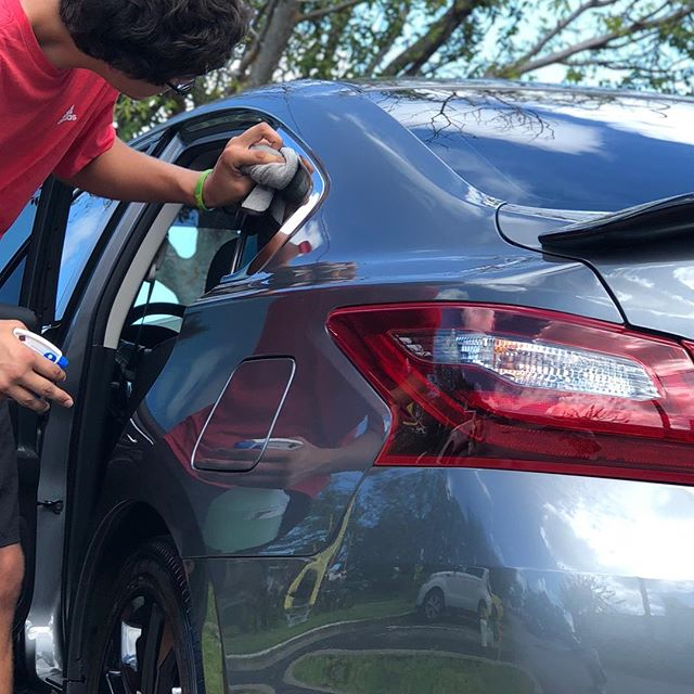 One of our professional detailers Brandon making sure this Nissan gets the proper #wipers look ♻️✨